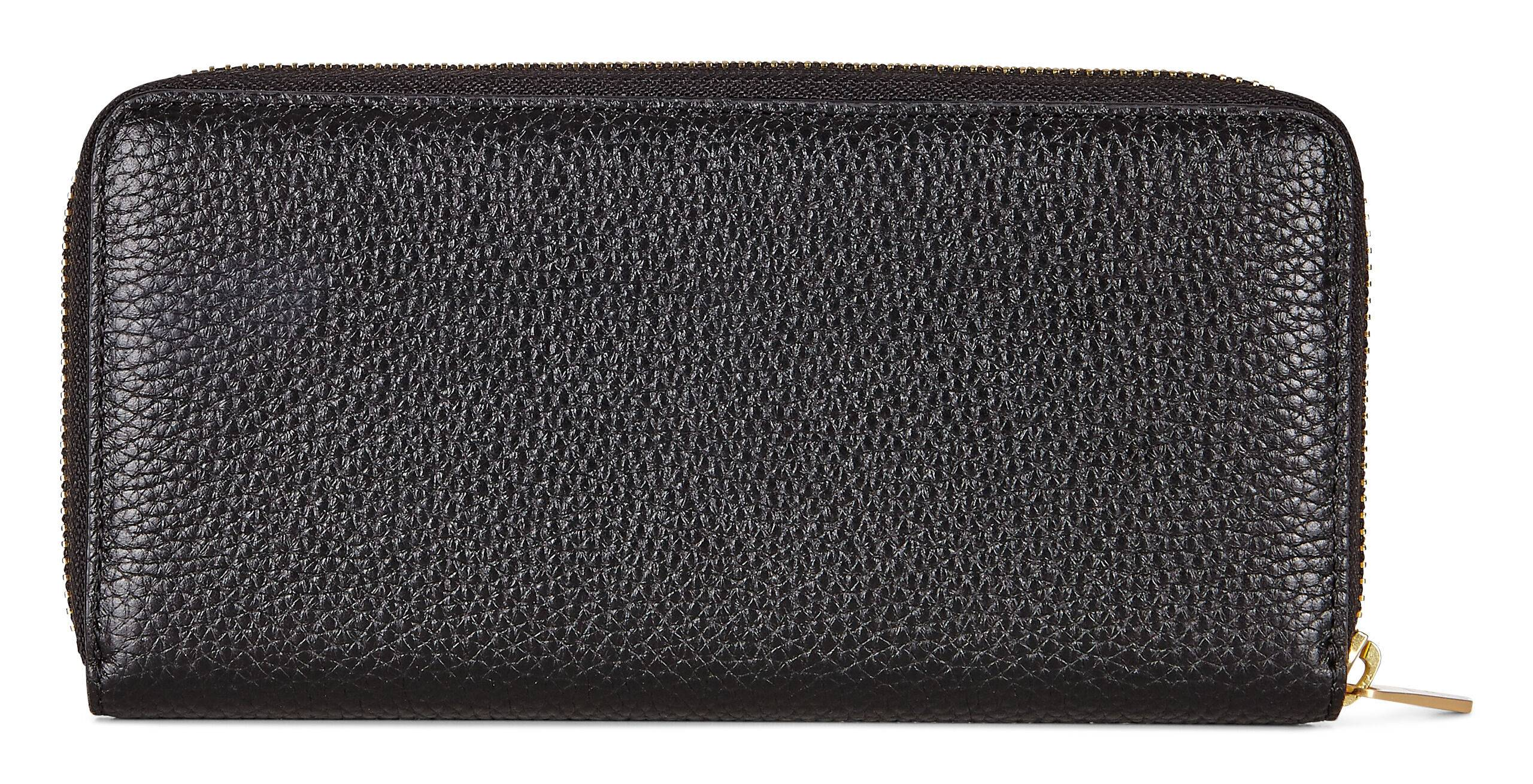ECCO Isan 2 Large Zip Wallet: One Size - Black