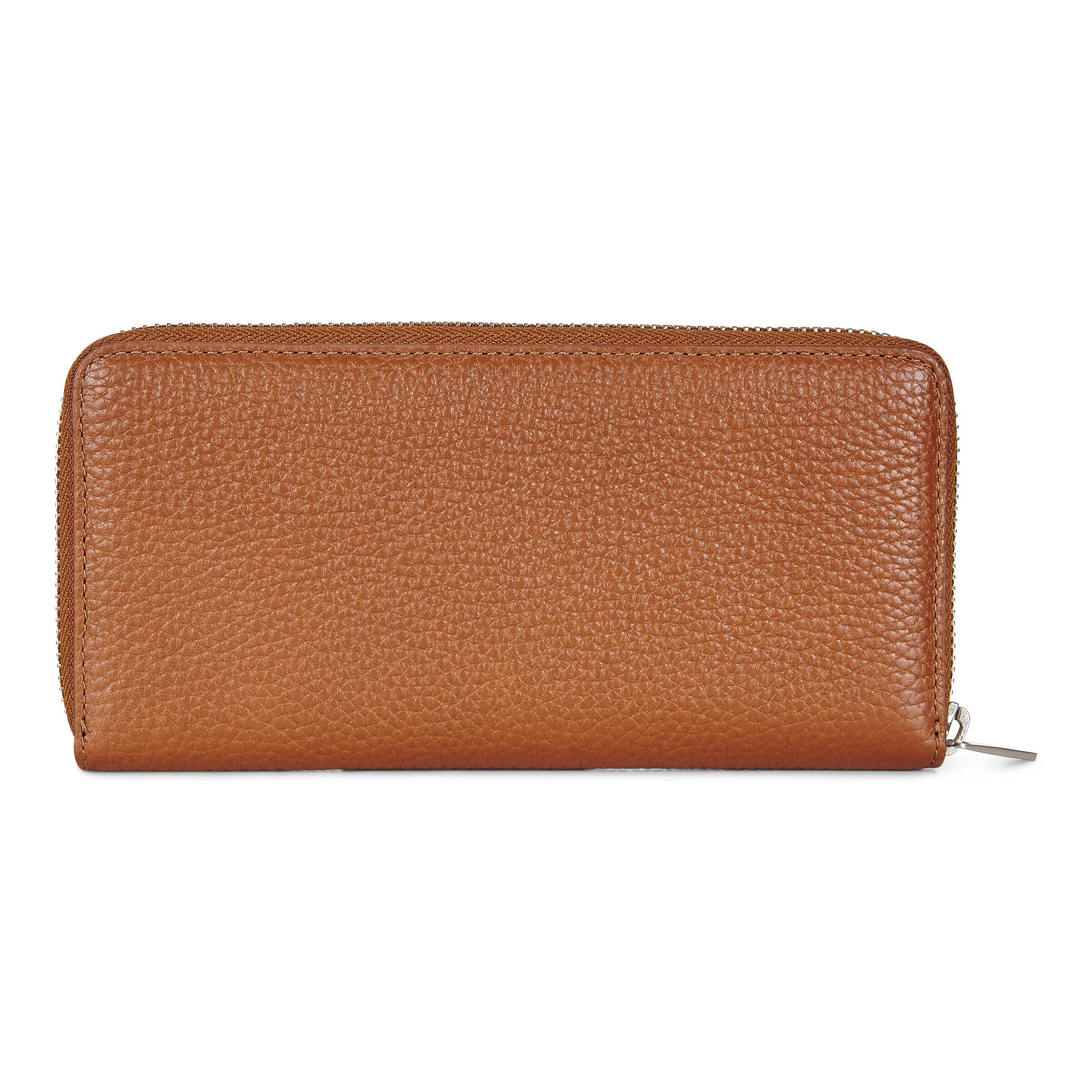 ECCO Isan 2 Large Zip Wallet: One Size - Caramel