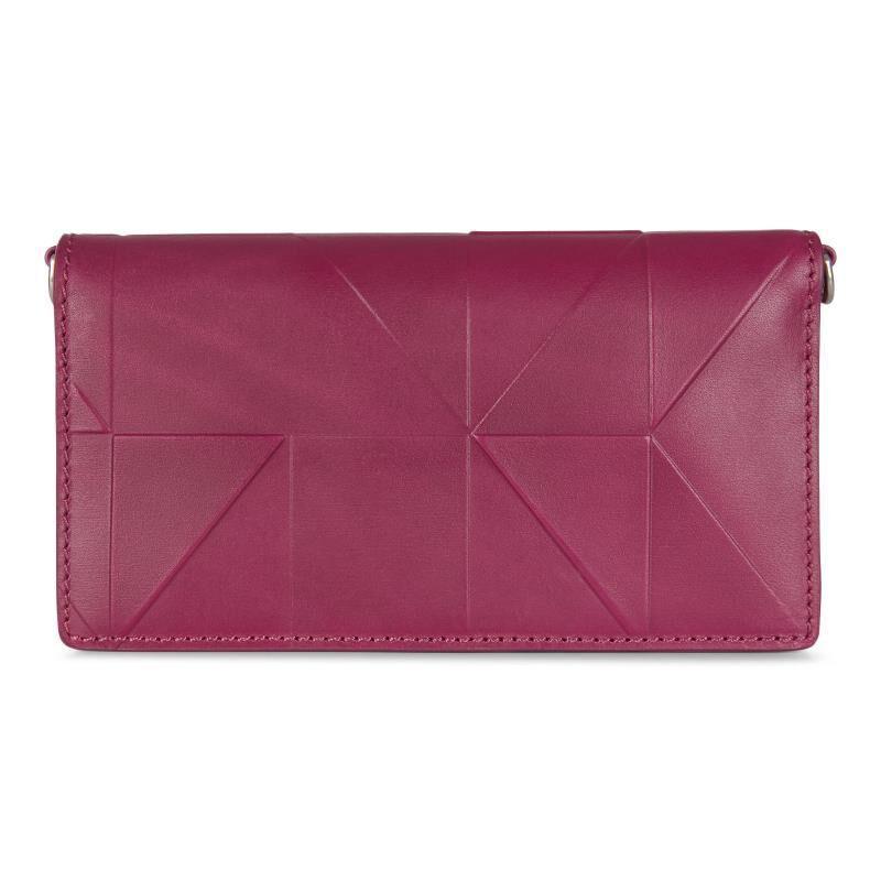 ECCO Geometrik Crossbody Wallet: One Size - Sangria