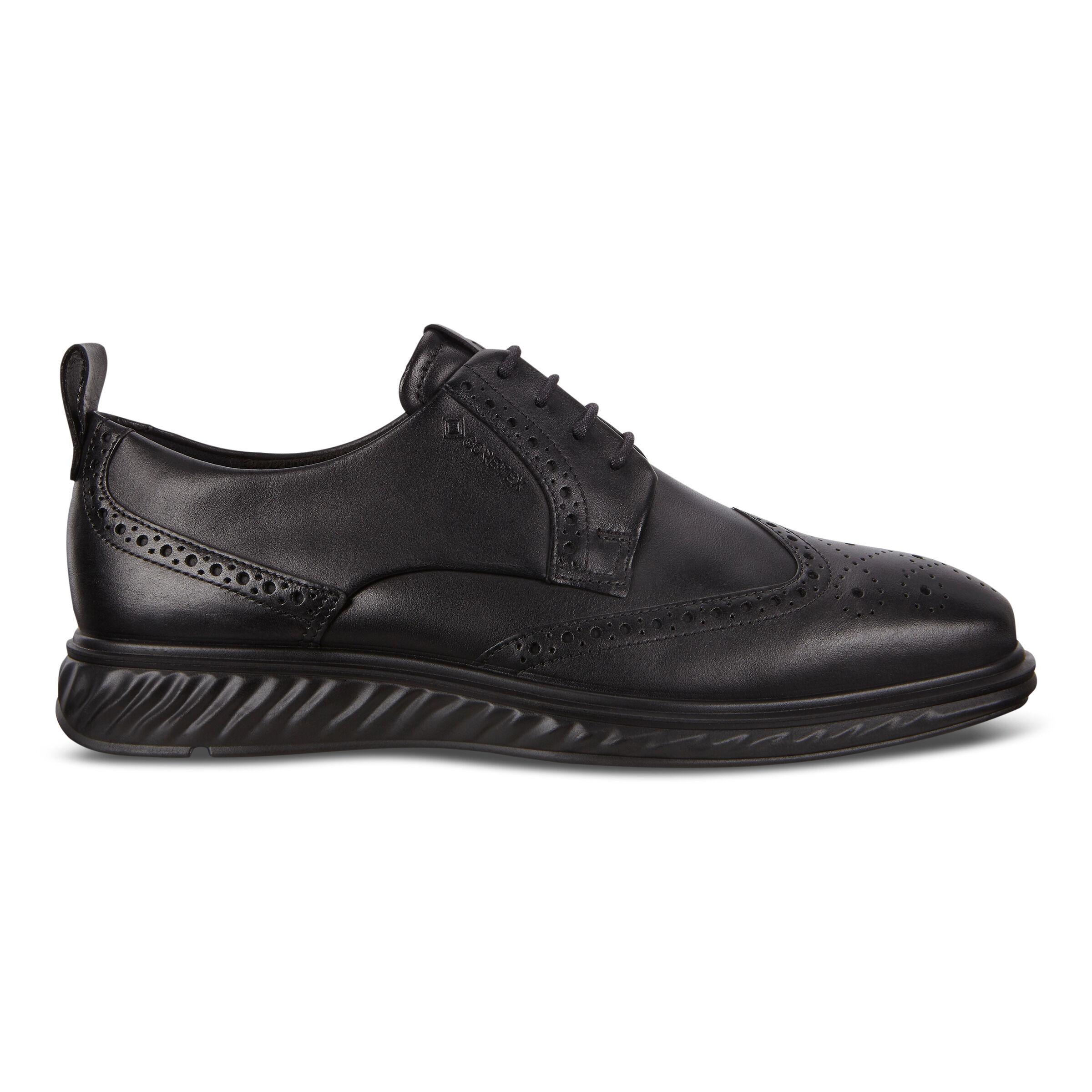 ECCO ST.1 Mens Hybrid Lite Wingtip Shoes: 7 - Black