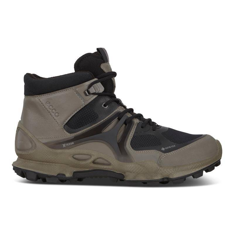 ECCO BIOM C-trail Mens Mid GTX Shoes Boots size  : 5 - Warm Grey