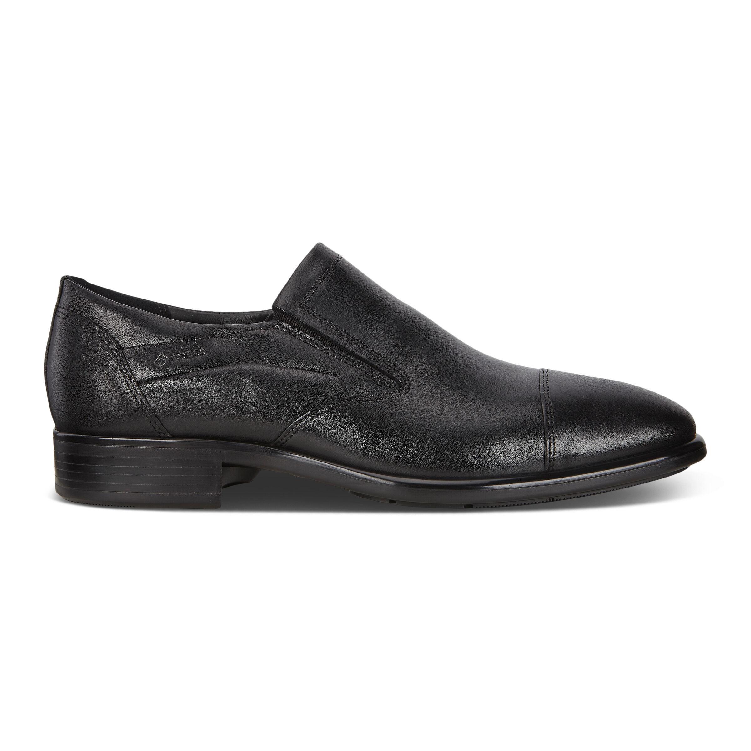 ECCO Citytray Mens Slip-on Shoes: 6 - Black