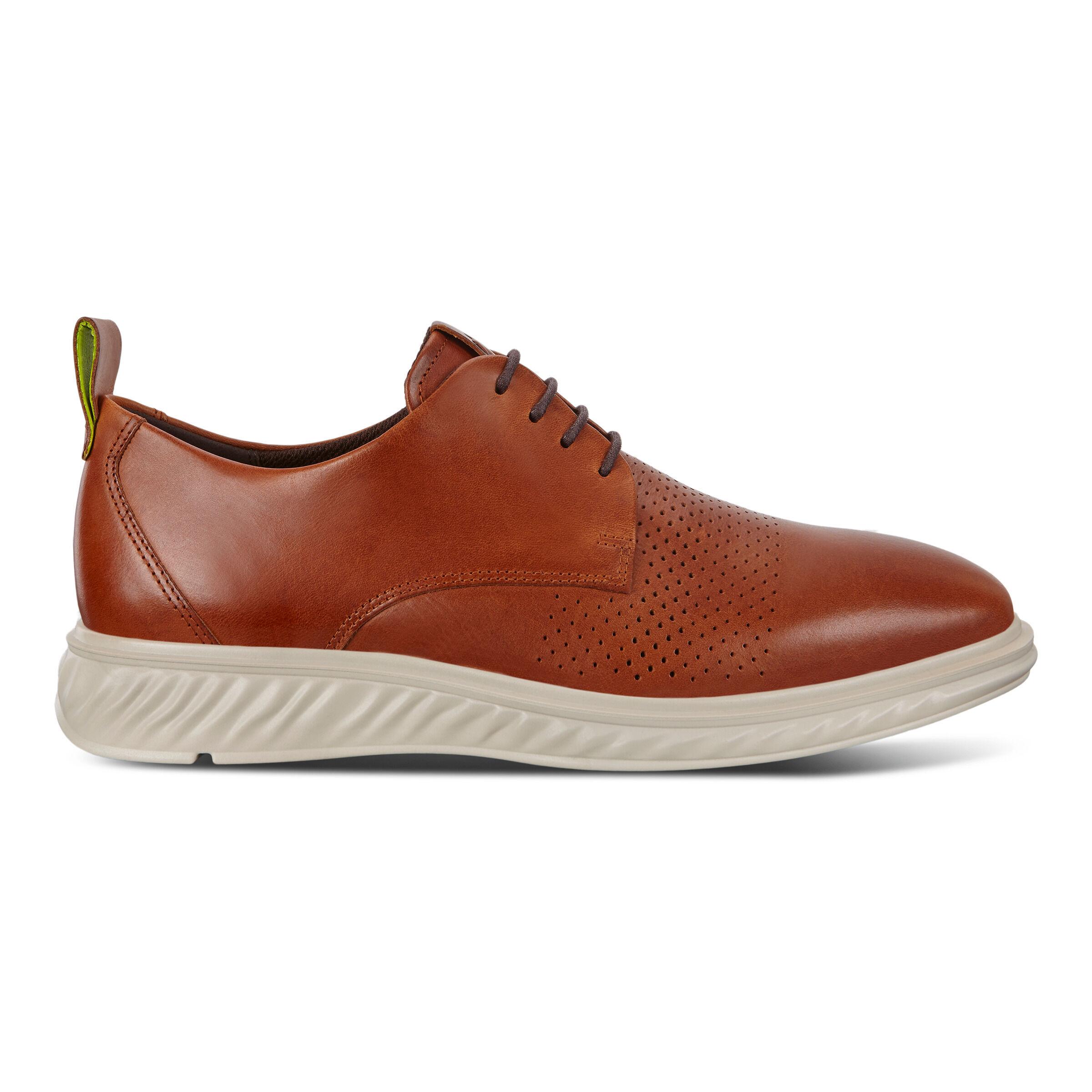 ECCO ST.1 Hybrid Lite Plain-toe Derby Shoes: 5 - Amber