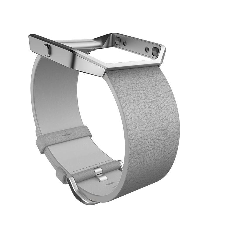 Fitbit Blaze Leather Accessory Band - Mist Grey Leather, Large
