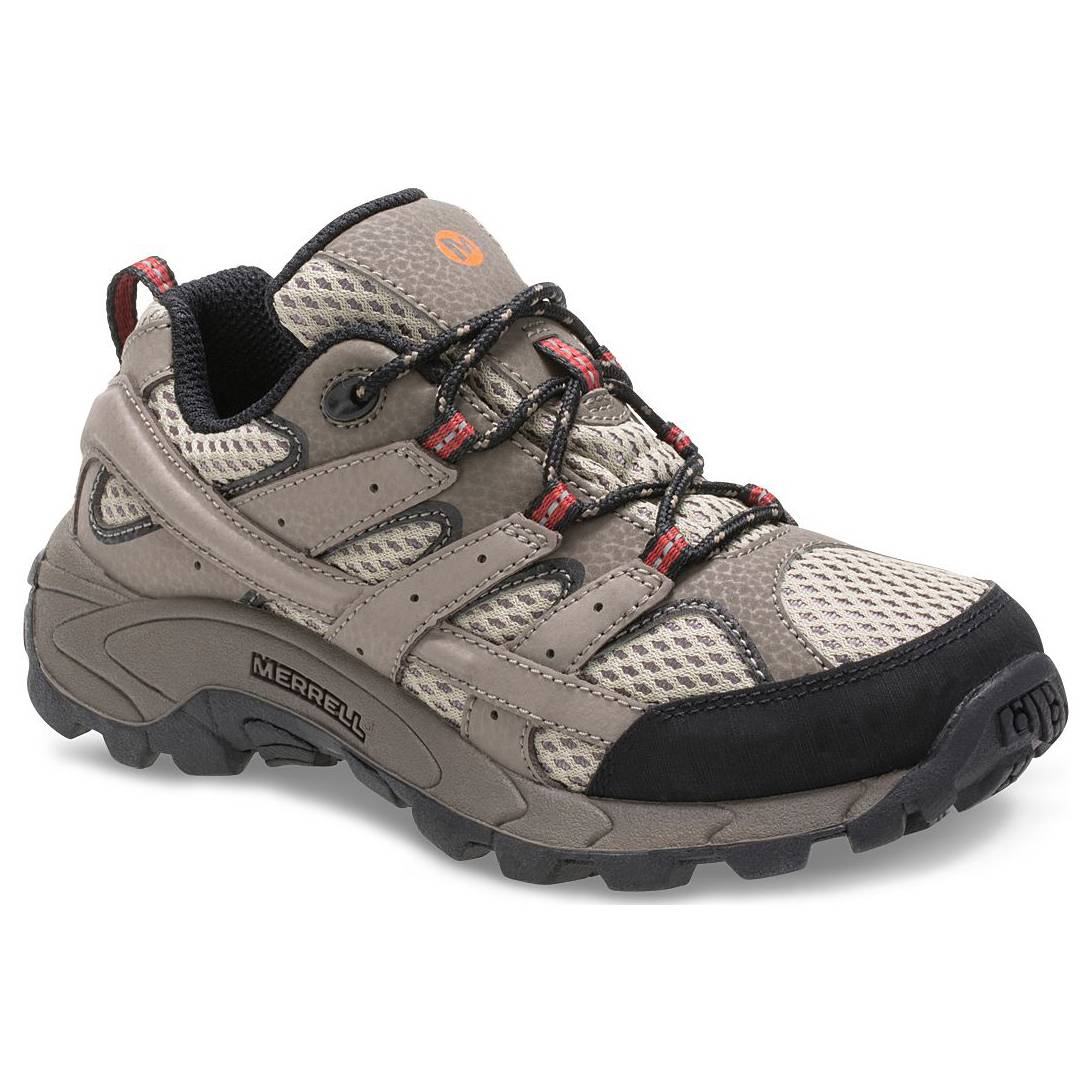Merrell Big Boys' Moab 2 Low Lace-Up Waterproof Hiking Shoes
