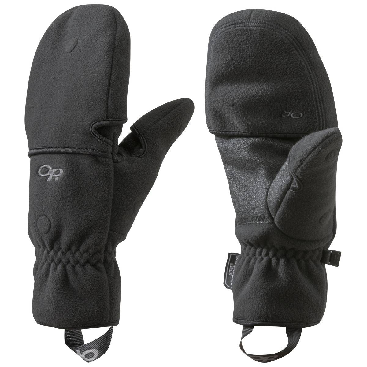 Outdoor Research Gripper Convertible Gloves, Black