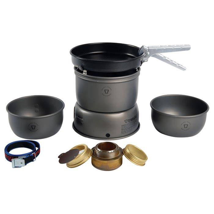 Trangia 27-3 Ultralight Hard Anodized Alcohol Stove Kit With Windscreens