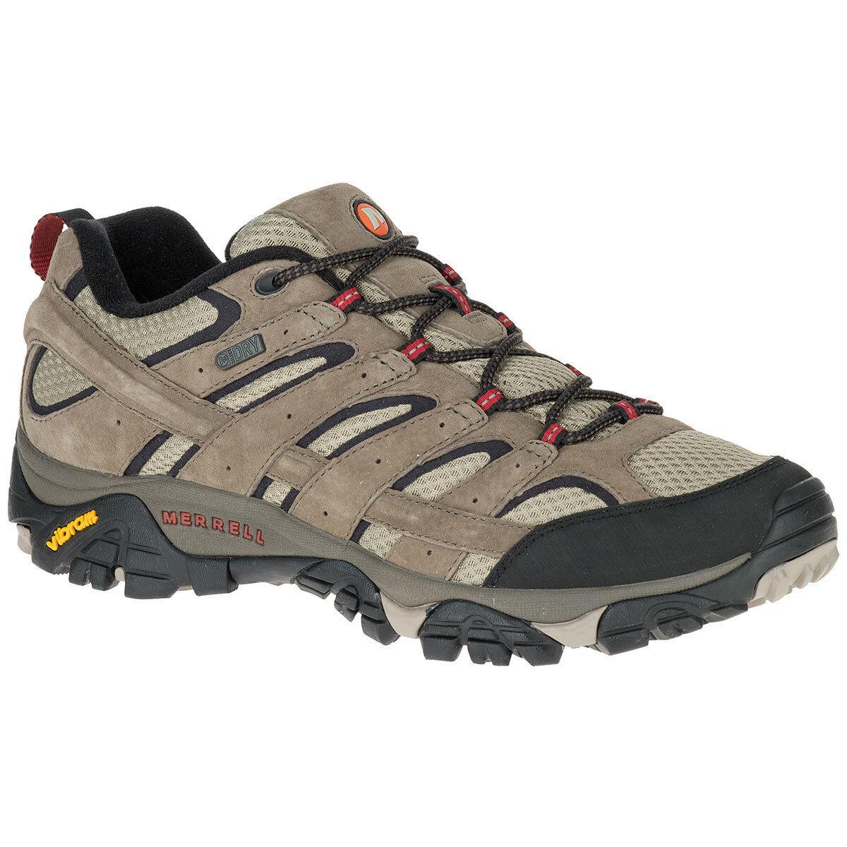 Merrell Men's Moab 2 Waterproof Low Hiking Shoes, Bark Brown - Size 11.5