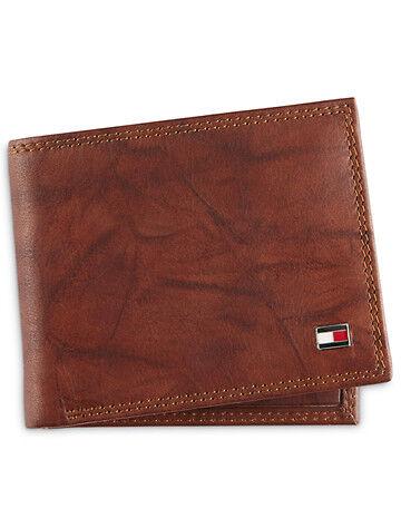 Tommy Hilfiger Big & Tall Tommy Hilfiger RFID Traveler Crunch Wallet - Tan