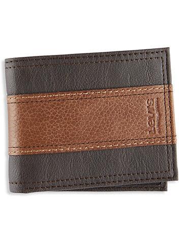 Levi's Big & Tall Levi's Billfold Wallet - Brown