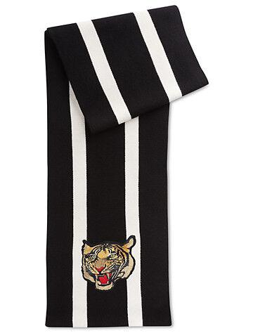 Ralph Lauren Big & Tall Polo Ralph Lauren Tiger Scarf - Black White
