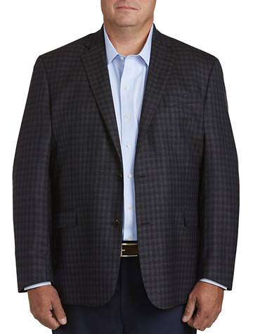 Cole Haan Big & Tall Cole Haan Medium Check Sport Coat - Brown