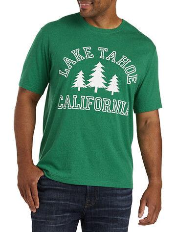 Lucky Brand Big & Tall Lucky Brand Lake Tahoe Cali Graphic Tee - Green