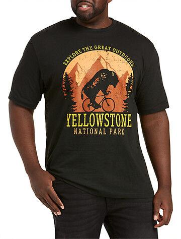 True Nation Big & Tall Explore Yellowstone Graphic Tee - Black