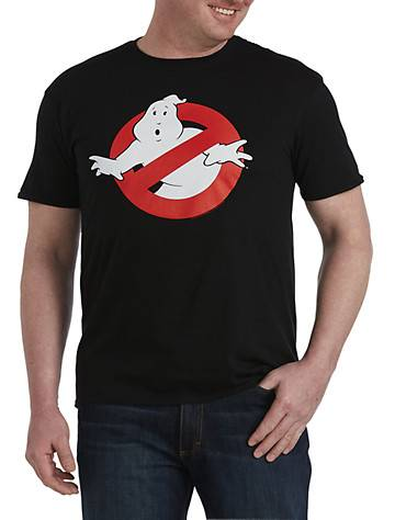 True Nation Big & Tall Ghostbusters Classic Graphic Tee - Black