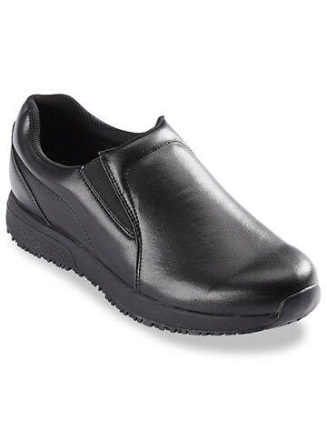 Propet Big & Tall Propet Stannis Slip-On Work Shoes - Black
