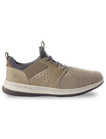 Skechers Big & Tall Skechers Delson-Camben Bungee Shoes - Khaki