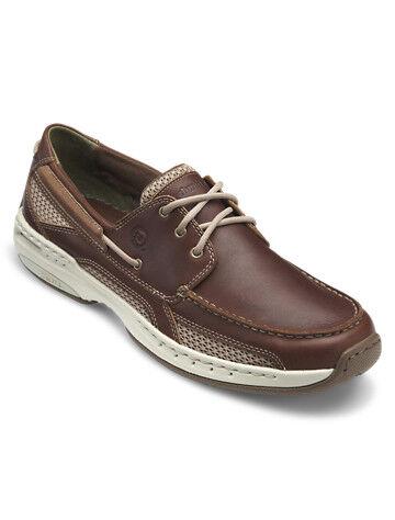 Dunham Big & Tall Dunham Captain 3-Eyelet Boat Shoes - Brown