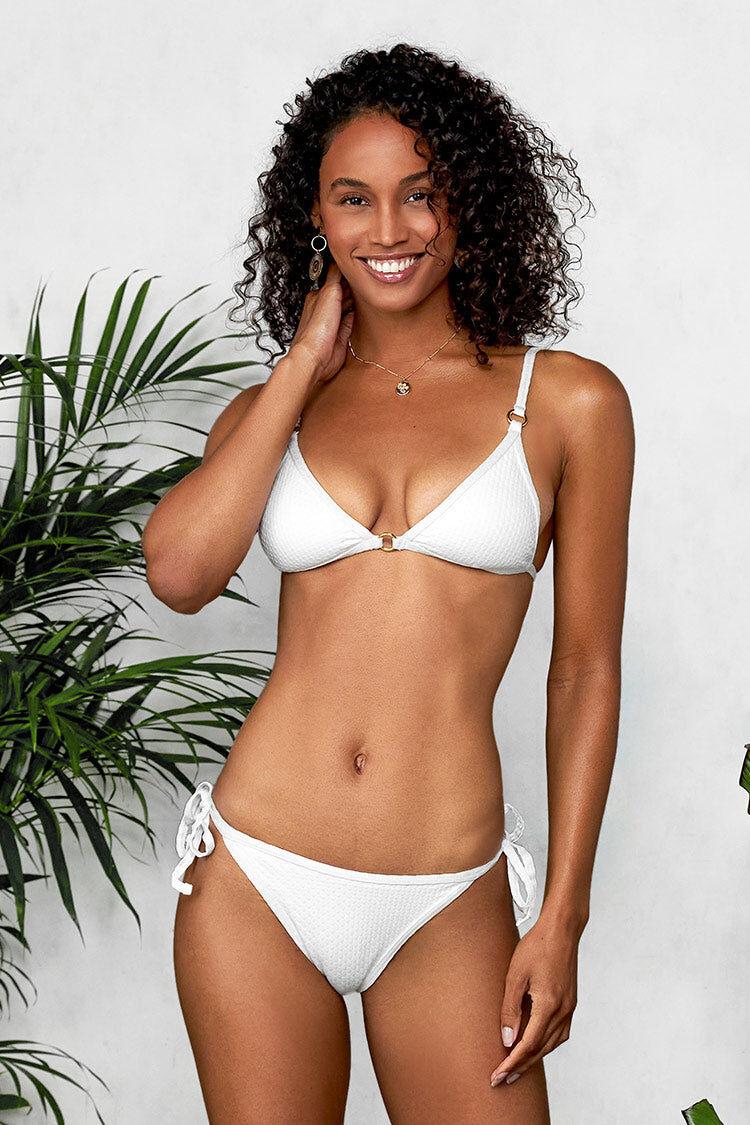 Apparel & Accessories  Clothing  Swimwear White Low Rise Side Tie Bikini