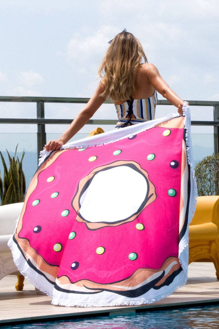Home & Garden  Linens & Bedding  Towels  Beach Towels Donut Tassel Beach Blanket