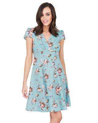 Steve Madden SWEETNESS FLORAL DRESS MINT GREEN