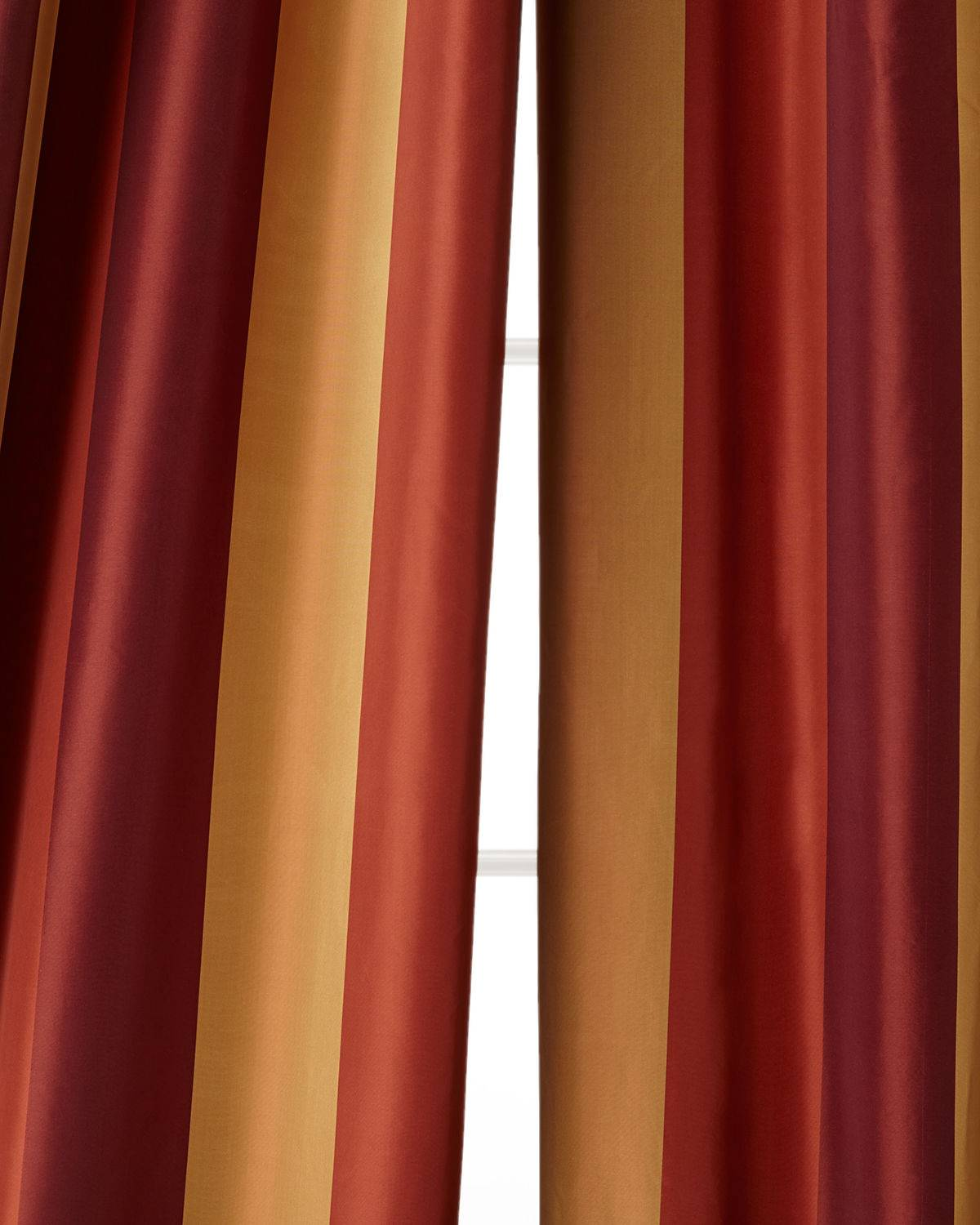 "Home Silks Each 108""L Juniper Curtain - RED"