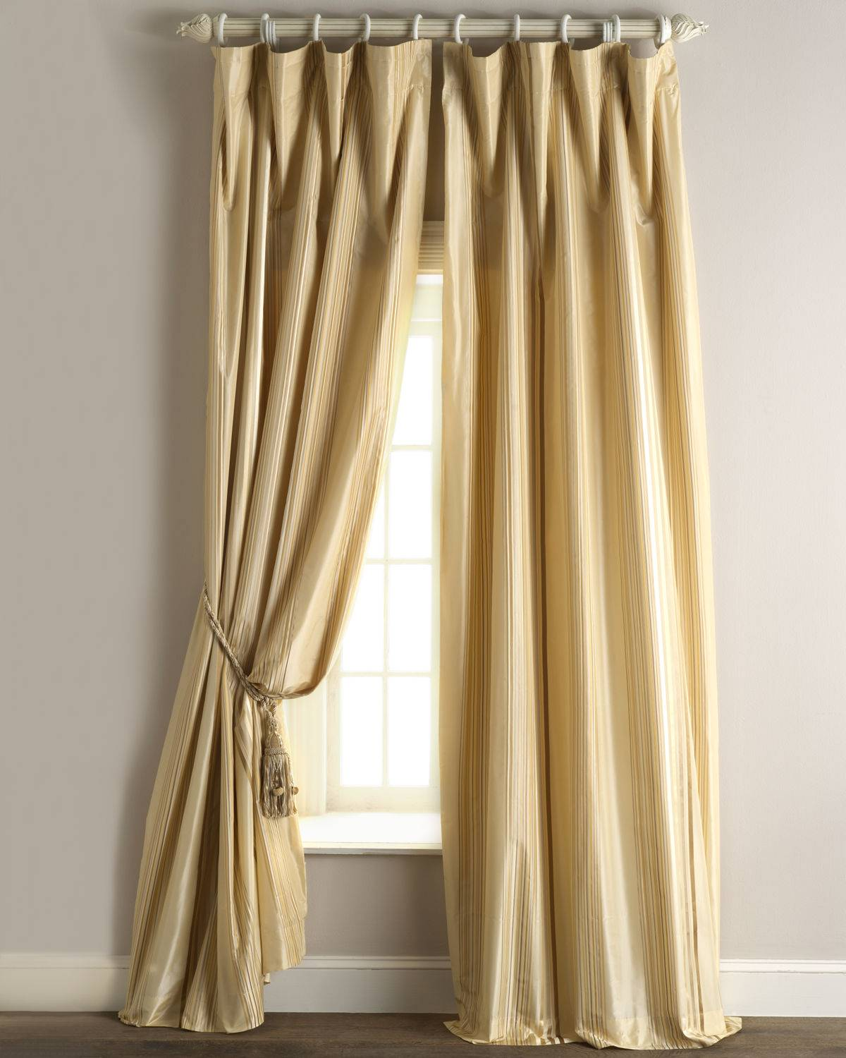 "Home Silks Each Sienna Curtain, 96""L"