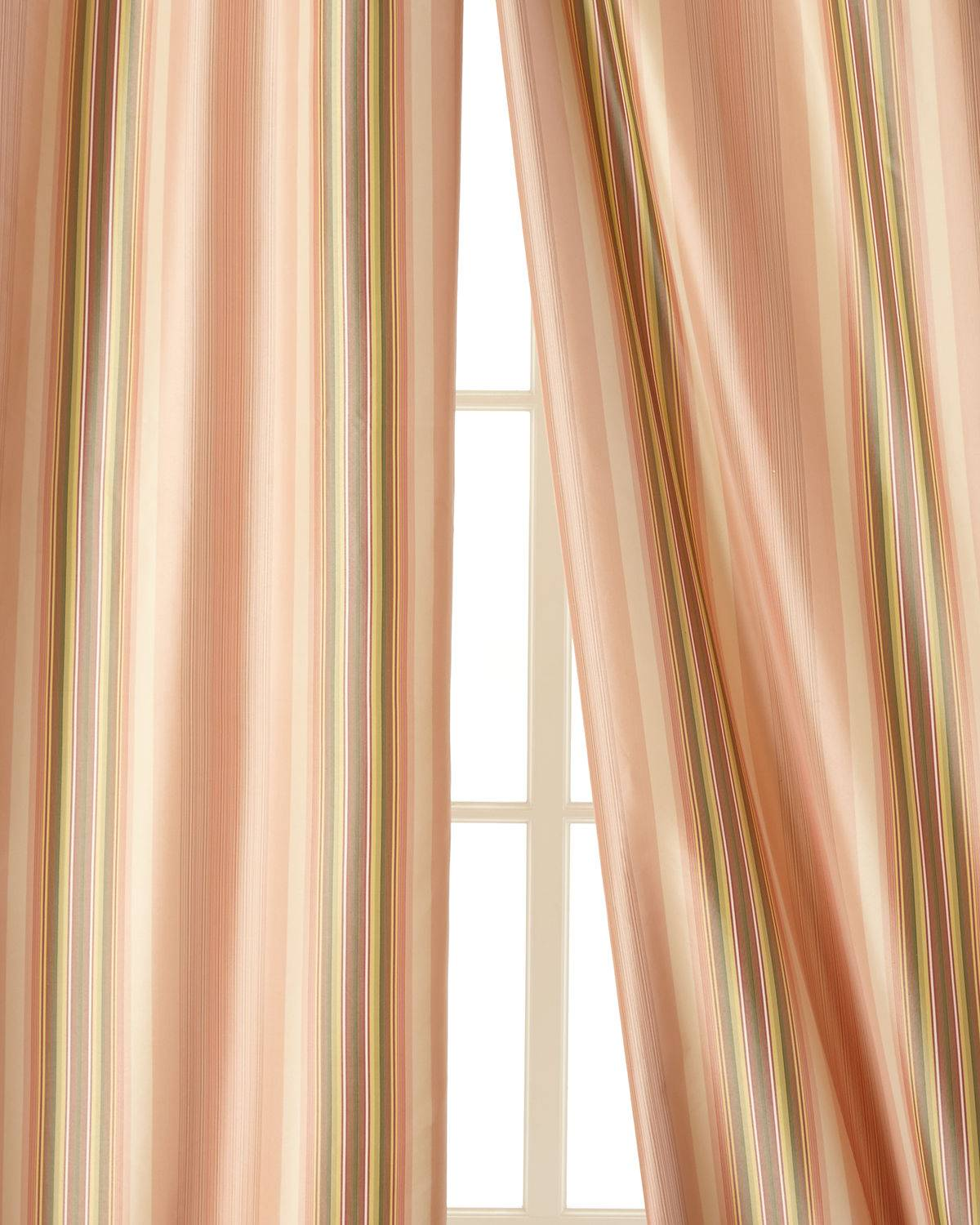 "Home Silks Each 52""W x 96""L Carleton Curtain - PINK"
