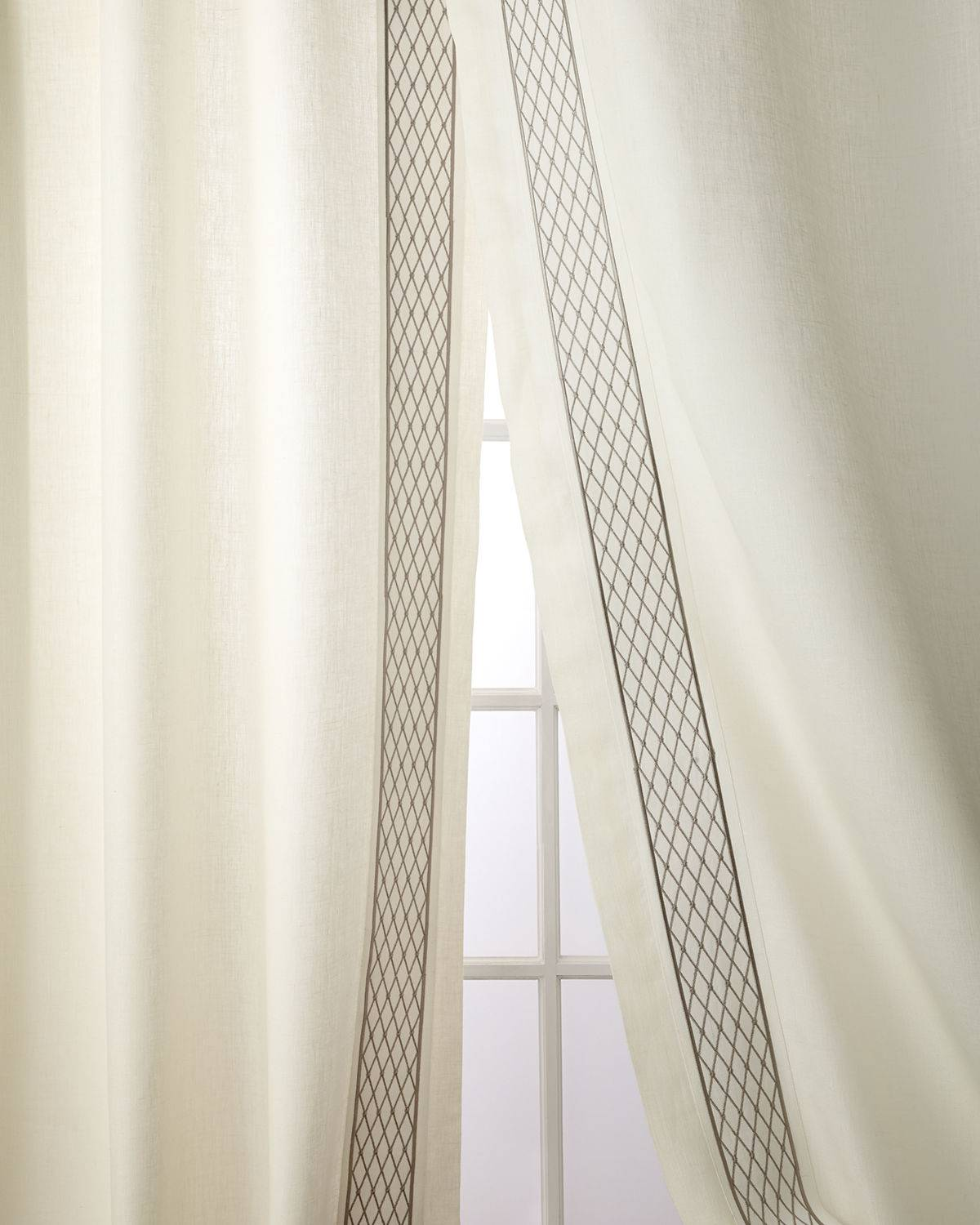 Home Silks Set of Two Ambrosia Curtain Panels, 108""