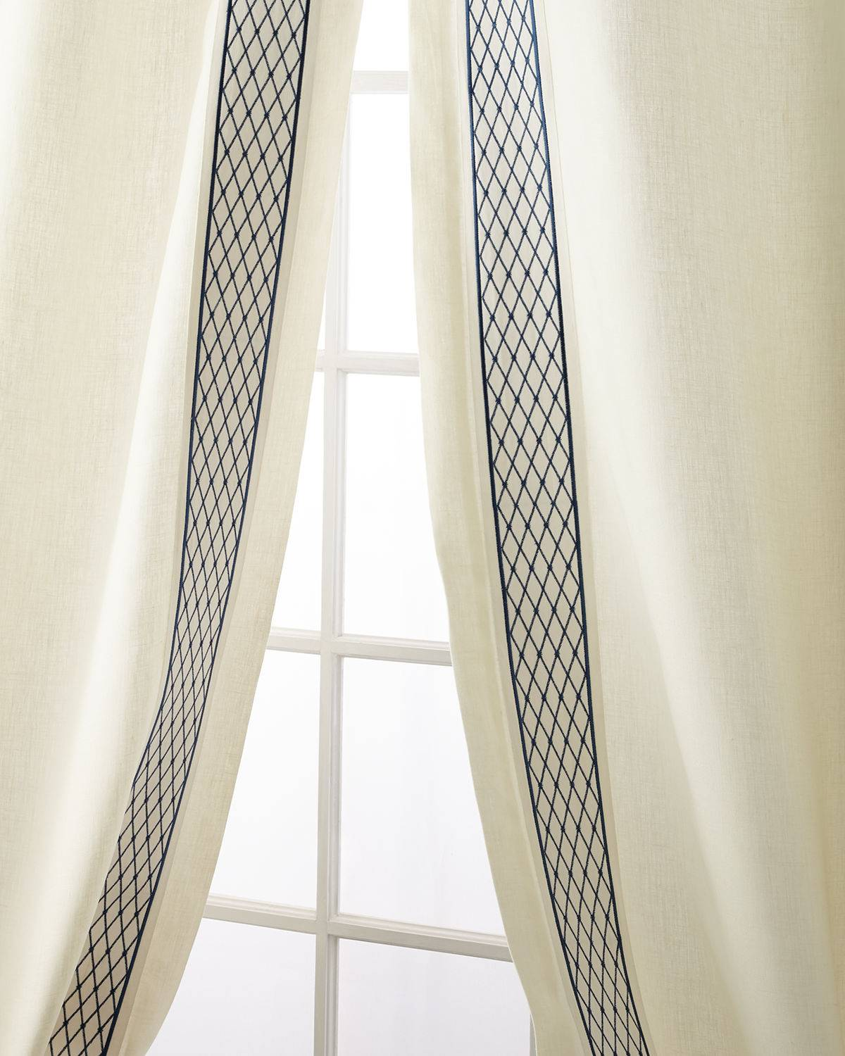 Home Silks Set of Two Ambrosia Curtain Panels, 96""