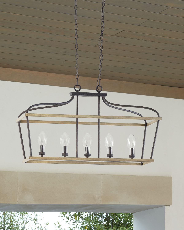 5-Light Outdoor Linear Chandelier