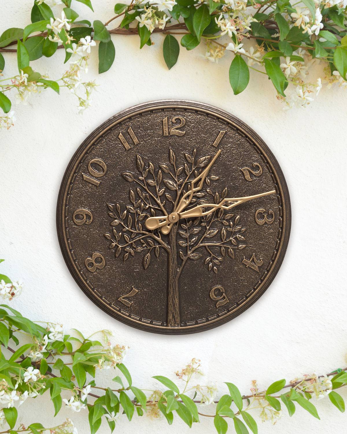 """Tree of Life 16"""" Indoor/Outdoor Wall Thermometer"""