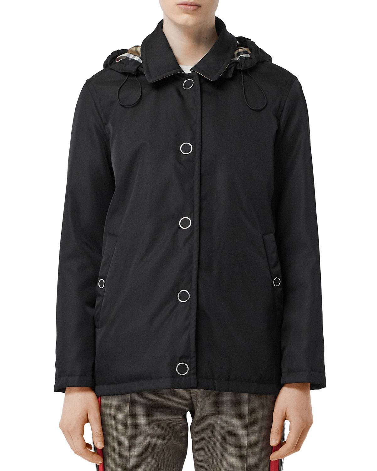 Burberry Southport Hooded Short Car Coat