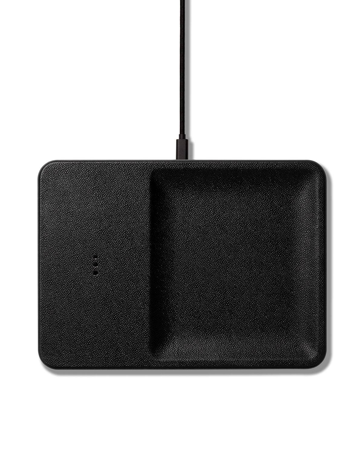 Courant CATCH:3 Single Device Wireless Charging Station w/ Accessory Organizer, Black