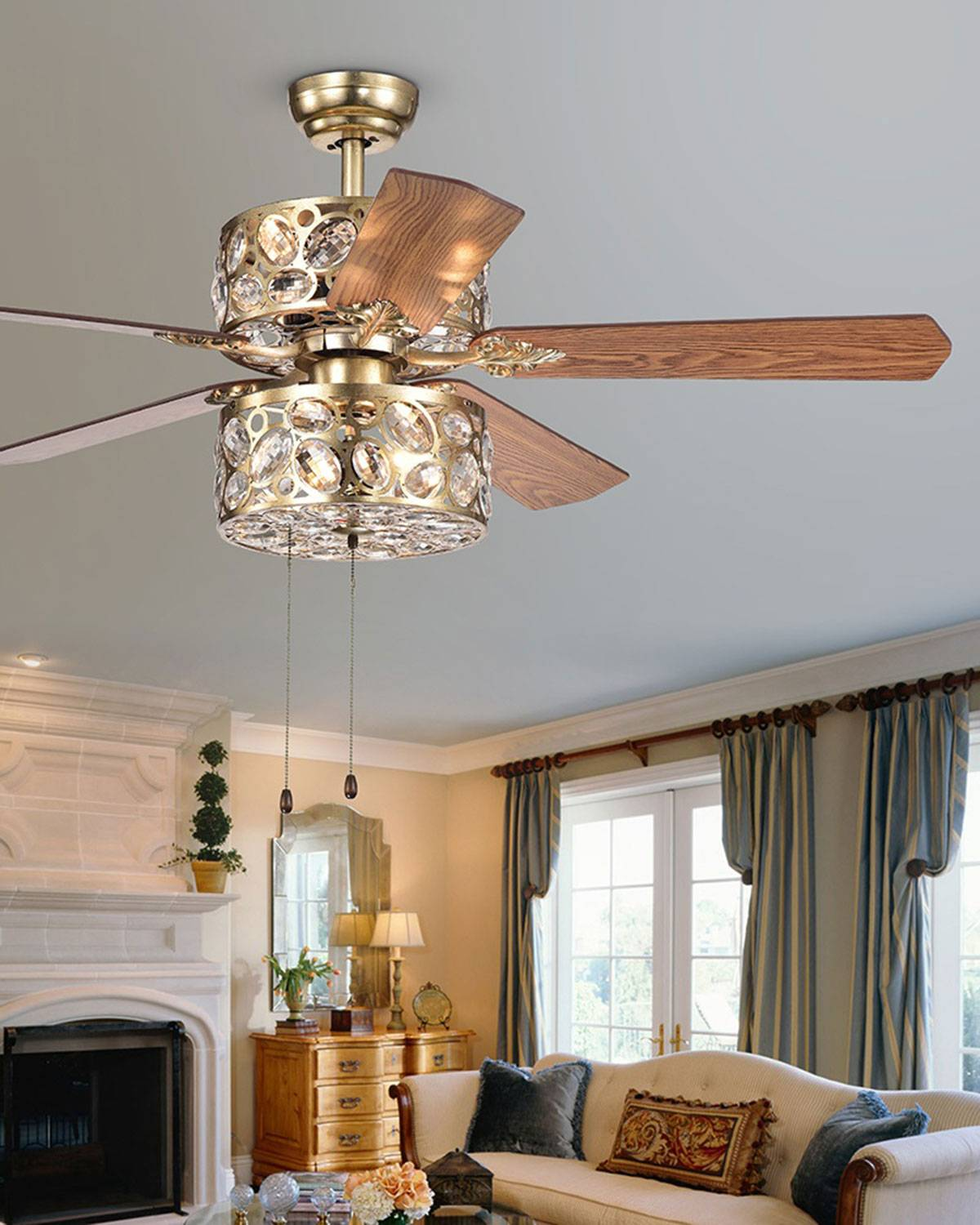 Home Accessories Thisvro Chandelier Ceiling Fan