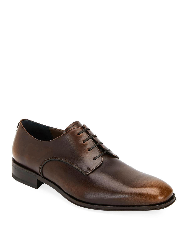 Salvatore Ferragamo Men's Daniel Lace-Up Shoes