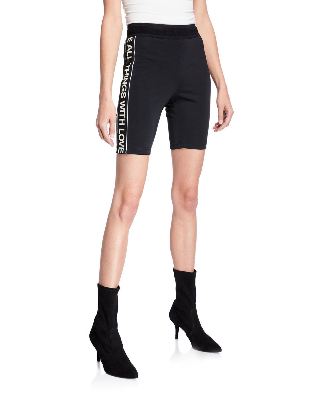 Pam & Gela Sporty Stripe Bike Shorts