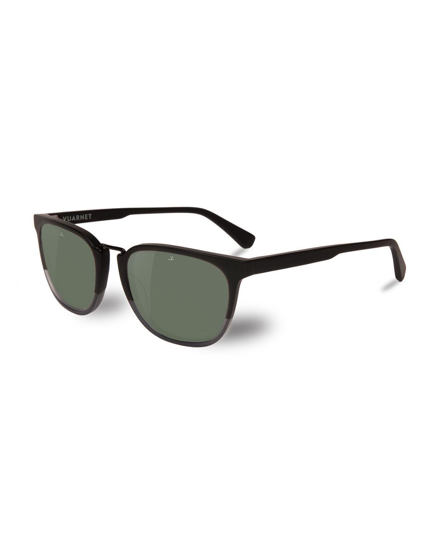 Vuarnet Men's Cable Car Square Polarized Stainless Steel/Acetate Sunglasses