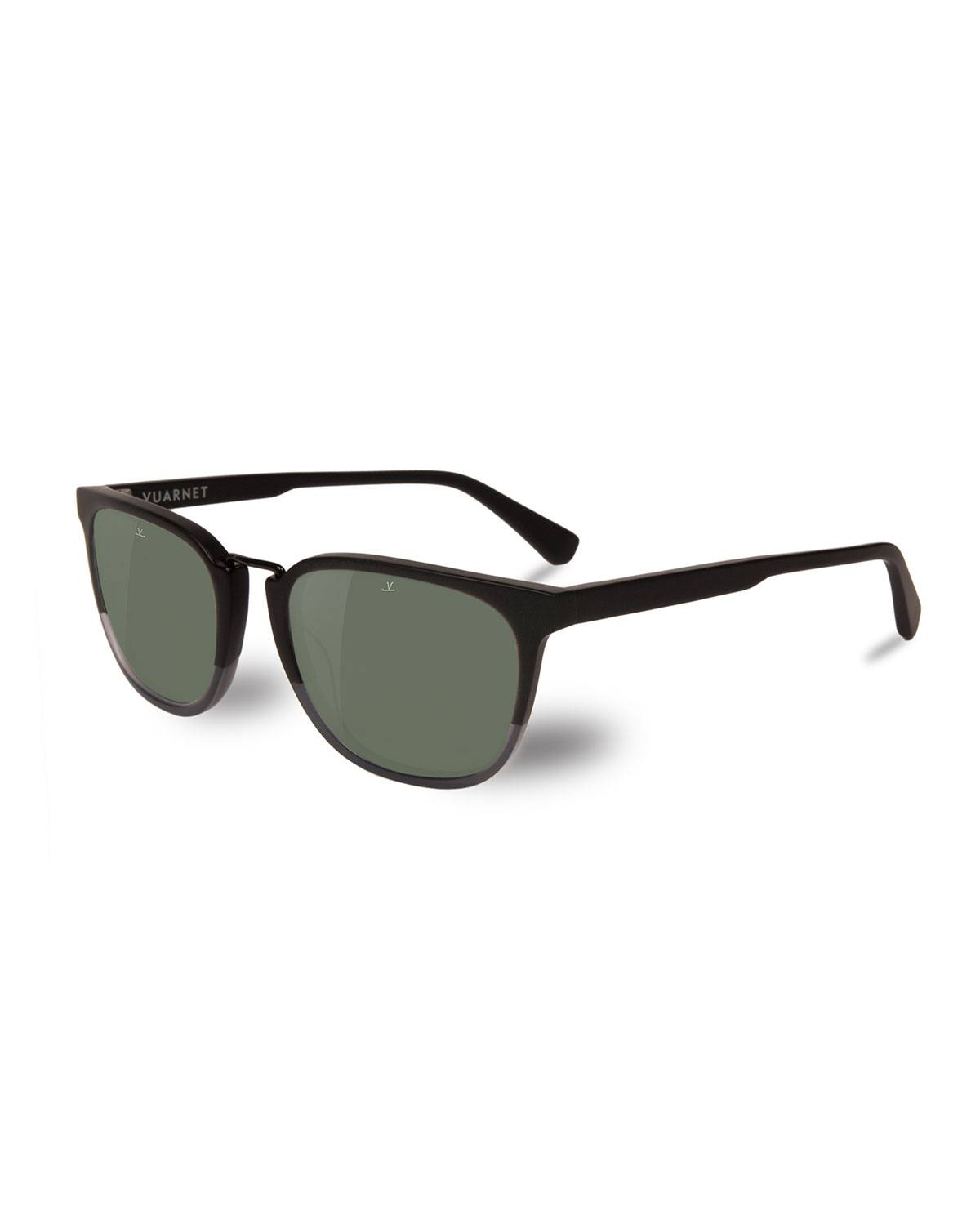 Vuarnet Men's Cable Car Square Polarized Stainless Steel/Acetate Sunglasses