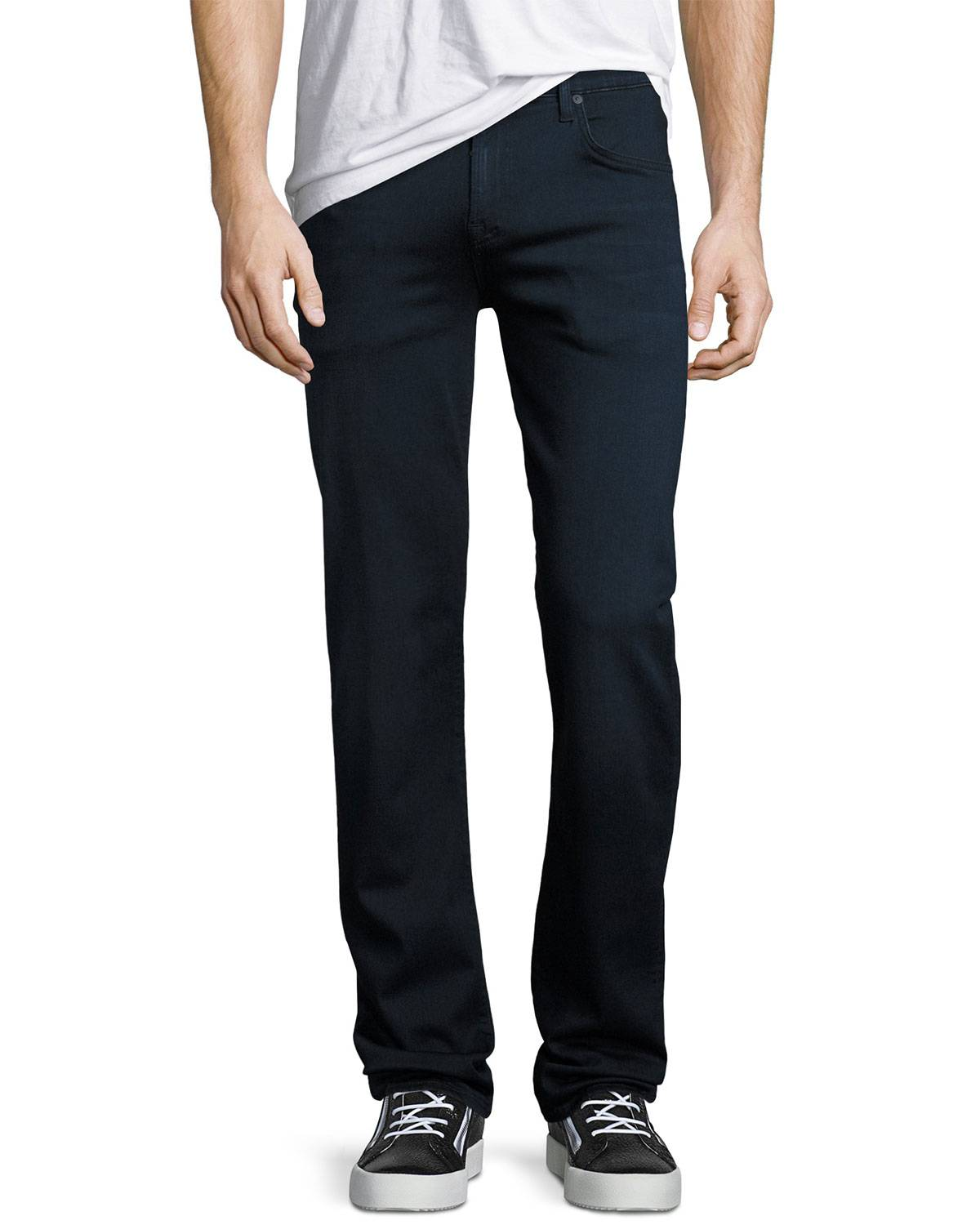 7 For All Mankind Men's Luxe Sport: Slimmy Blue Jeans - Size: 36 X 34