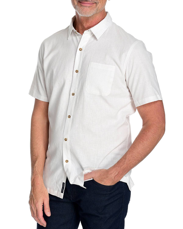 Fisher + Baker Men's Radium Short Sleeve Sport Shirt - Size: Medium