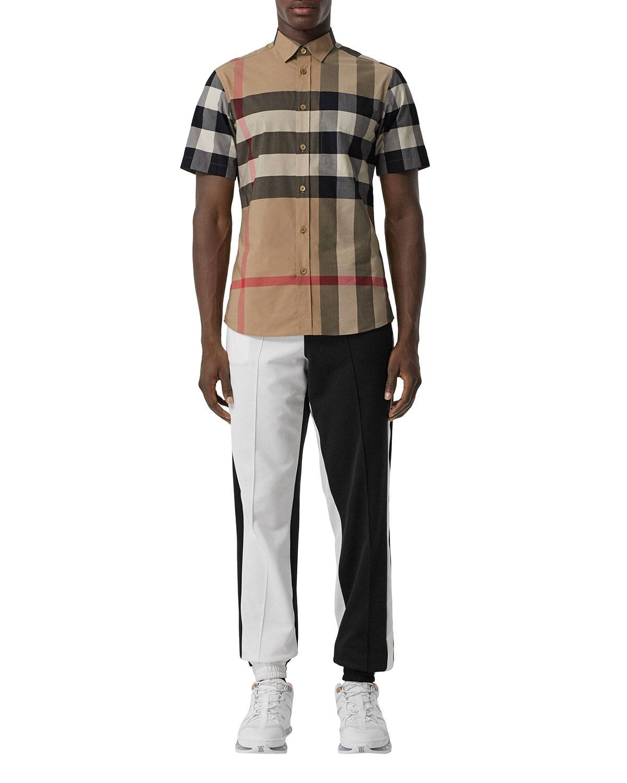 Burberry Men's Somerton Check Short-Sleeve Sport Shirt - Size: Extra Large