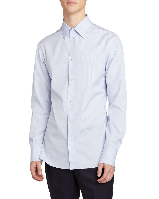 THE ROW Men's Jasper Solid Point-Collar Sport Shirt - Size: 16