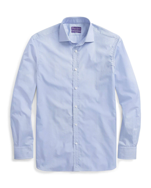 Ralph Lauren Men's Aston Mini-Gingham Sport Shirt - Size: 15.5
