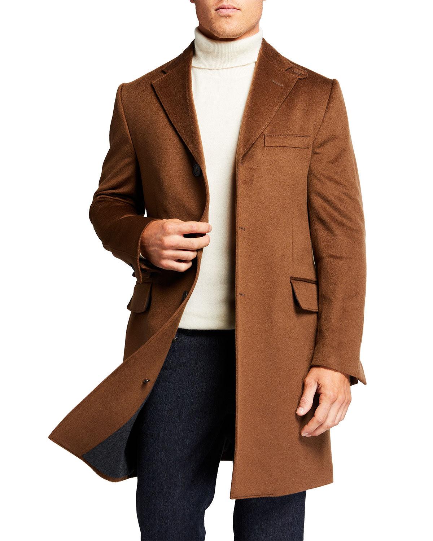 Corneliani Men's ID Top Coat w/ Removable Dickey - Size: 50 EU (40 US)