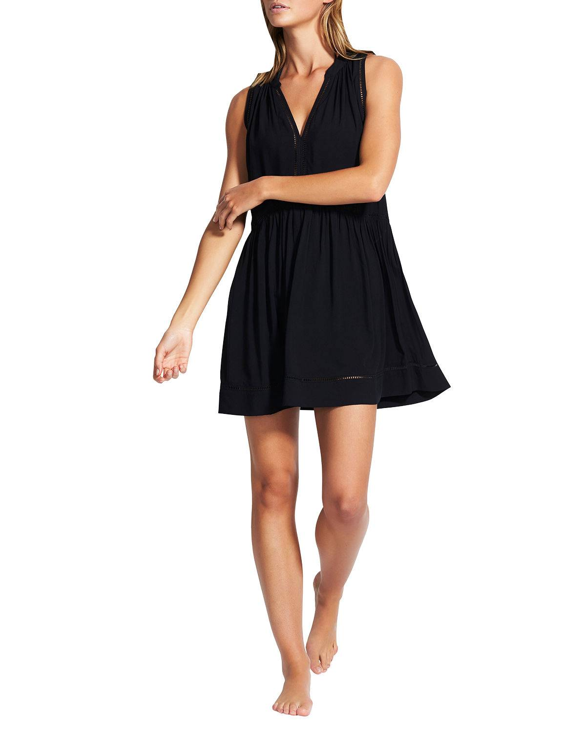 Seafolly Ladder Detail Coverup Dress - Size: Extra Large