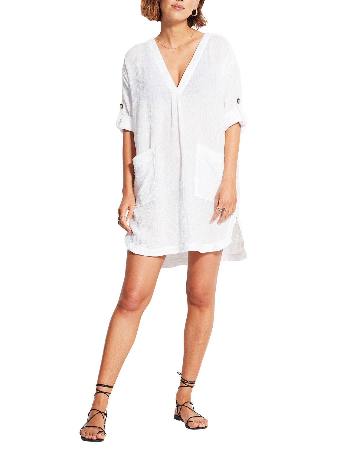 Seafolly Aloha Essential Coverup Dress - Size: Small