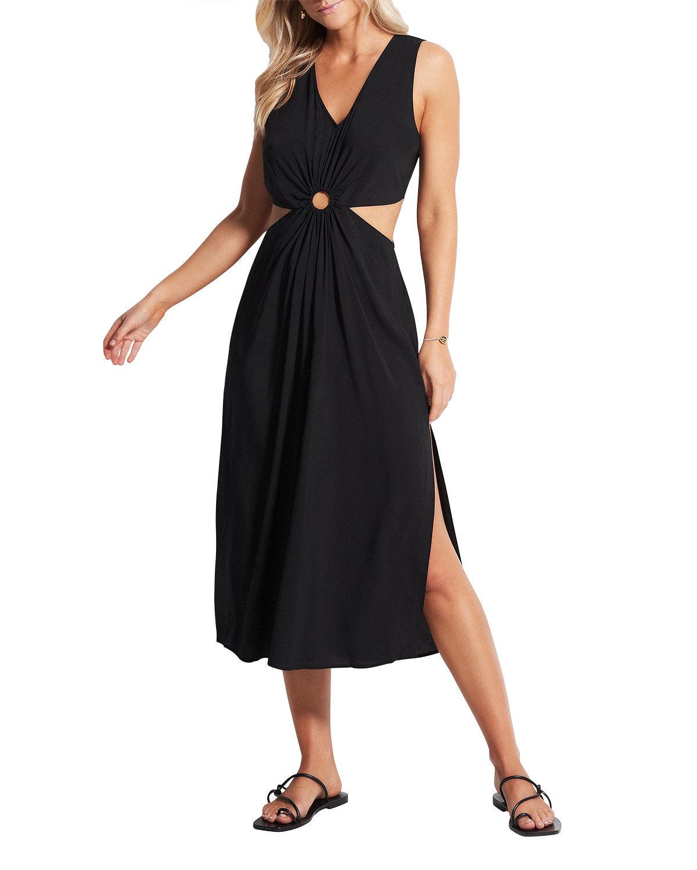 Seafolly Cut-Out Midi Dress - Size: Small