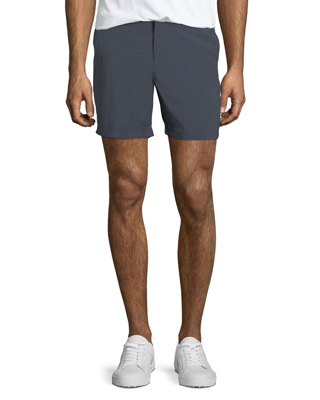 Orlebar Brown Men's Bulldog Sport Shorts, Black - Size: 38
