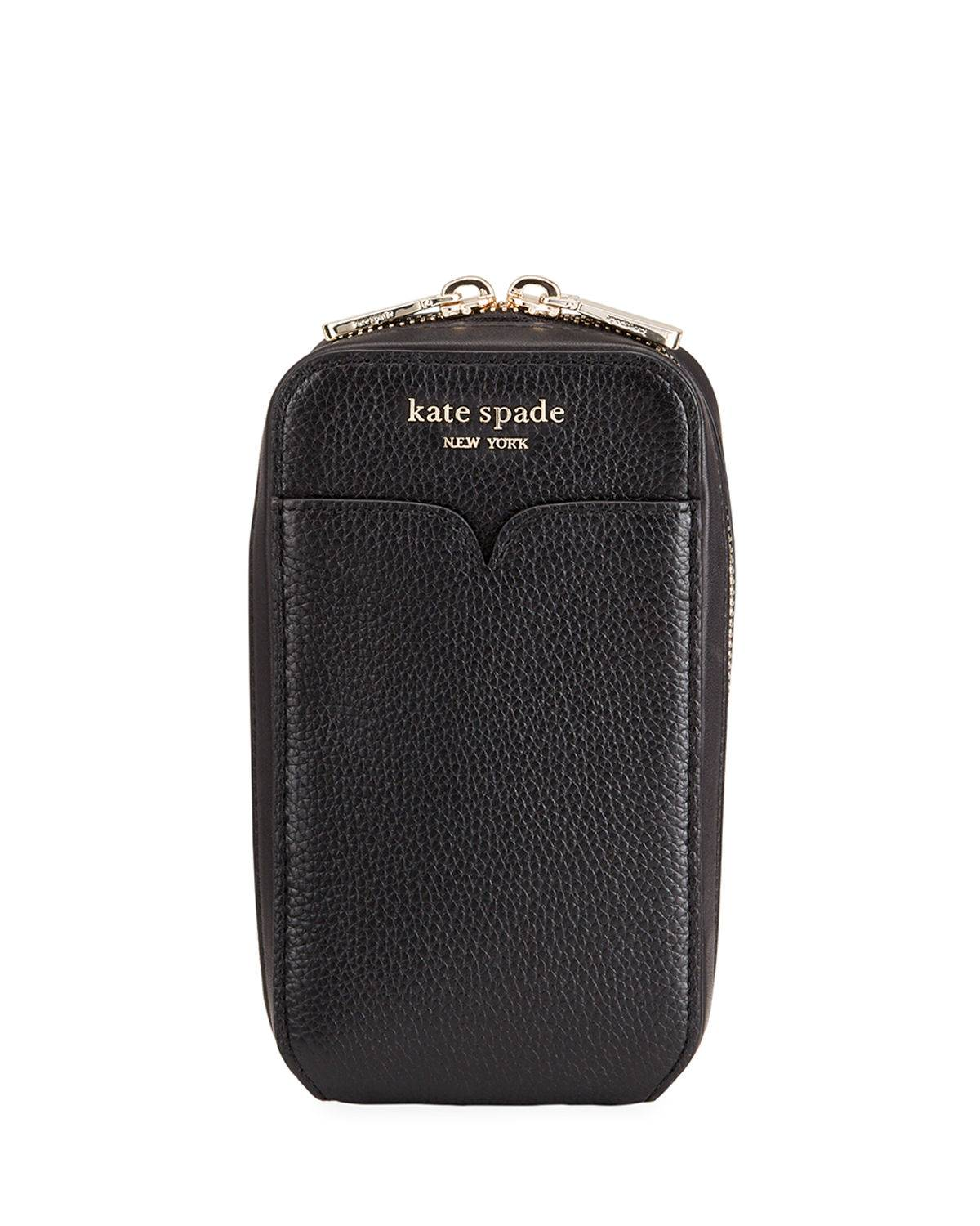 kate spade new york leather zip phone pouch bag